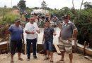 Secretaria de Obras da Prefeitura Municipal de Monte Alegre concluiu no último final de semana a construção da ponte de concreto do setor 11