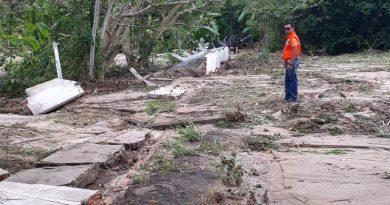 CHUVA DE DOMINGO DESTRUIU A ÁREA DE CAPITAÇÃO DE ÁGUA DA COSANPA EM MONTE ALEGRE