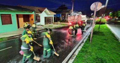 Combate ao Coronavírus. Prefeitura de monte alegre faz a desinfecção de vias públicas.