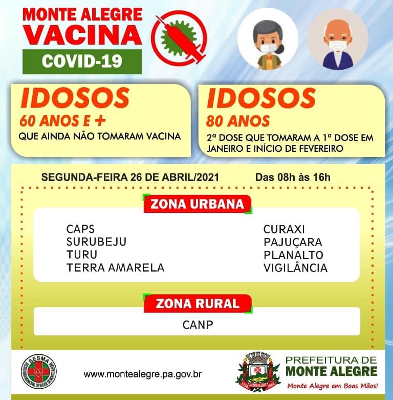 SEGUE A VACINAÇÃO CONTRA COVID-19 EM MONTE ALEGRE ...
