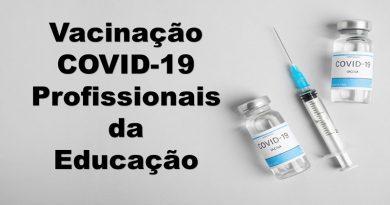 VACINA COVID19 – PROFISSIONAIS DA ÁREA DA EDUCAÇÃO