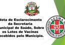 Nota de Esclarecimento da Secretaria Municipal de Saúde
