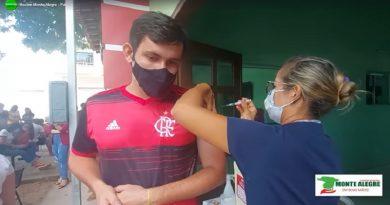 Vacinação em Monte Alegre, faixa etária 18 a 29 anos