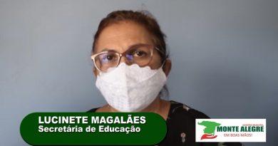 Secretária de educação, Lucinete Magalhães ,fala sobre a volta às aulas presenciais em Monte Alegre.